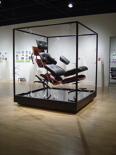 eames lounge chair, exploded