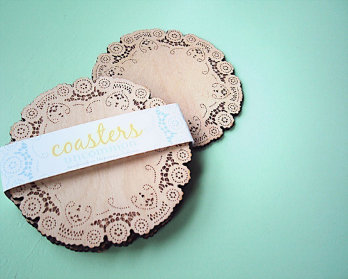 doily coasters @  uncommon shop ~ via nicole lecht