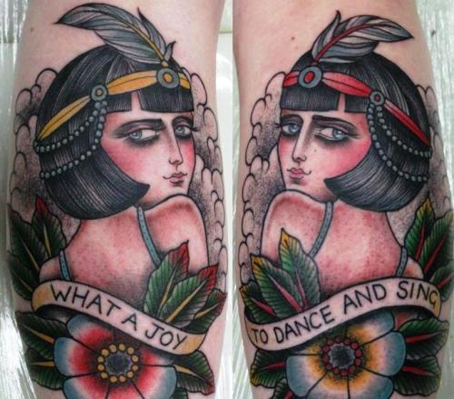 fuckyeahtattoos:  fresh! by the amazing sarah schor :)   SO GORGEOUS.