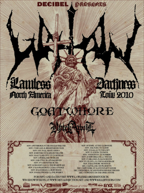 Watain, Goatwhore, and Black Anvil Tour Poster