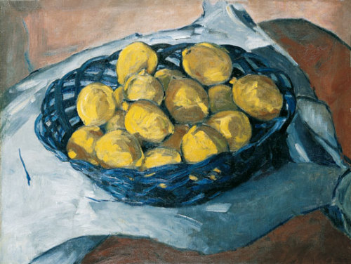 Christopher Wood Lemons in a Blue Basket 1922