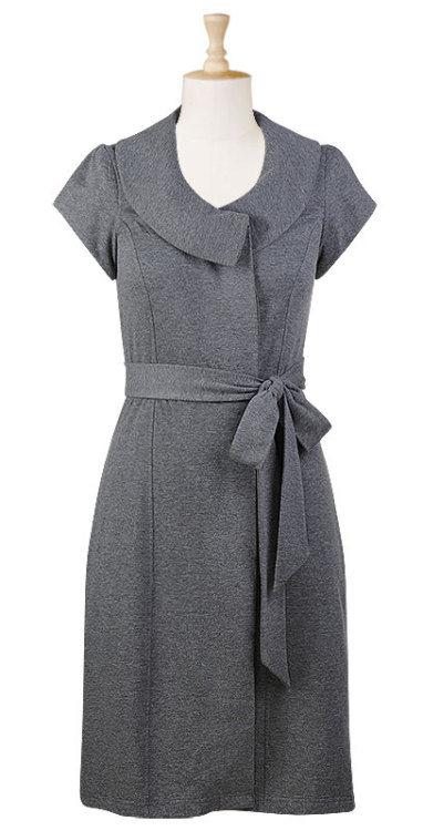 Sash waist fleece knit dressSizes 0-26W (and custom sizing available oh my god eShakti.com - I'm in love!  The fall collection is just getting better and better with each piece!