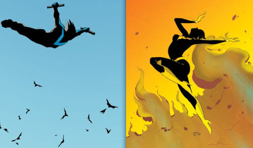 thegeekcritique:  Nightwing and Batgirl (via thegoddamnblogman, fuckyeahcomicrelationships)