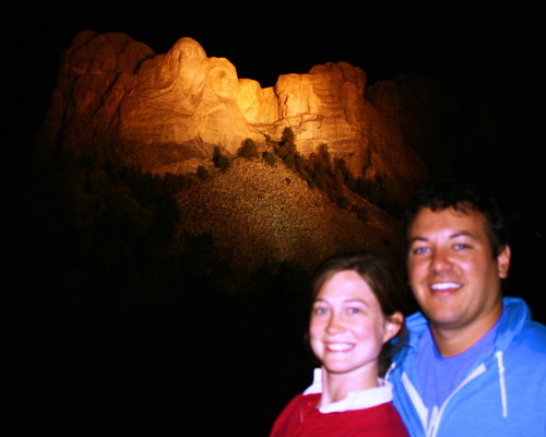 August 24th- Mount Rushmore was way cooler than expected and we took a bunch of pictures of it lit up (even though this photo is from last night, we spent all day driving through South Dakota there was nothing cooler than Mount Rushmore we saw in the state); arrived in South Bend late at night just in time to go to bed. Drove 1,045 miles in about 15 hours.