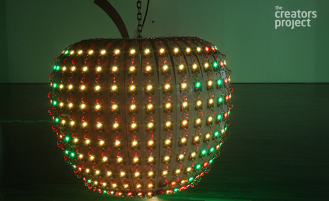 "Hojun Song's Apple 2010 ""ripened"" in response to crowd attention; sensors detecting heat and motion caused it to glow brighter when curious onlookers came close. Choi Jeong Hwa's plastic black Lotus Flower proved that fake can be just as good, or at least as lovely to look at. Seung-Kwan No's just barely indecipherable signs in Hangui Column 2010 were a statement on the confusion that can result from urban over-stimulation. Lumpens' Hello Fellow Lumpens was a visual interpretation of our shared global consciousness. And Peter Lee's Knight of the Dinner Table showed just how much fun bringing the virtual into physical space can be. But what are we telling you this for — if installations could be described accurately in few sentences, what would be the point of all that circuitry, yards of plastic, and intricate construction in the first place. Art tells stories that can't be conveyed in mere words. Scroll through the slideshow and see for yourself. More pictures here"