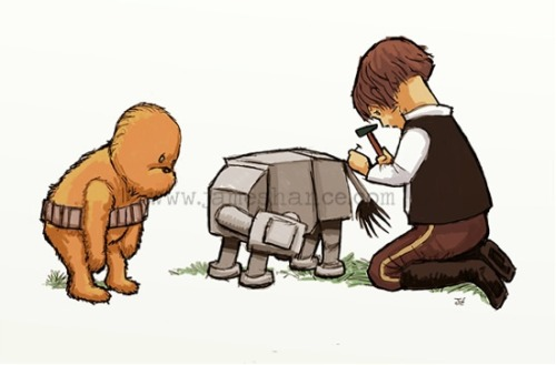 laughingsquid:  Wookiee The Chew: Winnie The Pooh Retold With Star Wars Characters   this is absolutely adorable.