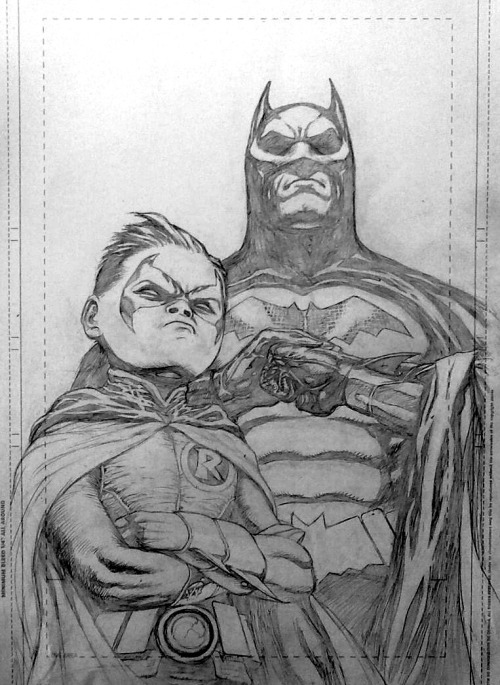 Pat Gleason pencils from Batman and Robin. Dick sure does look like Christian Bale in The Dark Knight, does it not?