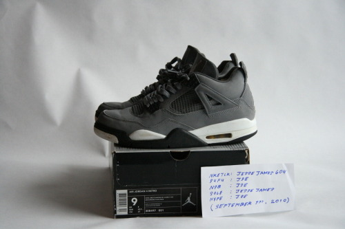 "AIR JORDAN 4 RETRO: ""COOL GREY"" (NEUTRAL GREY/BLACK/WHITE) SIZE: 9 / CONDITION: NEARLY DEADSTOCK   NOTES: ORIGINAL RETRO CARD INCLUDED  PRICE: $140 (OR BEST OFFER (ALL OFFERS WELCOME))  MORE PHOTOS: CLICK HERE"