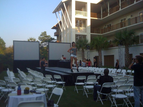 "Rehearsal for ""NINE2TEN"" fashion for the arts event. Yours truly hosting the evening. Woot."