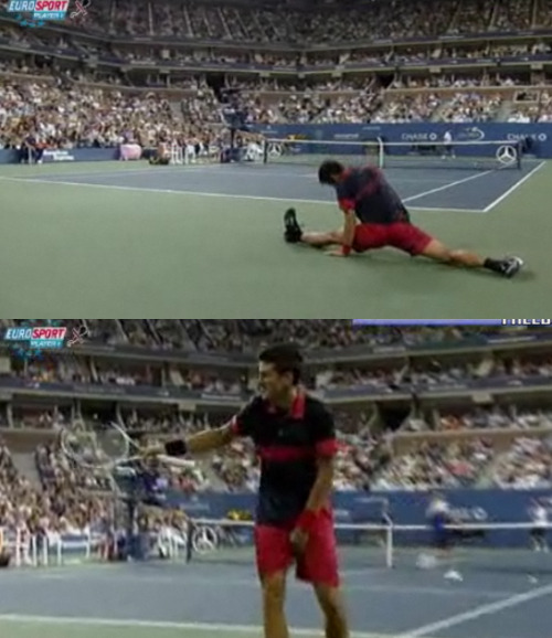 "spatchcock:  ""I went too much"" he may have damaged the Djokohones with that one."