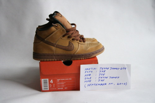 "NIKE DUNK HIGH PRO SB: ""WHEATS"" (MAPLE/BISON-WHEAT) SIZE: 4 (MENS) / CONDITION: DEADSTOCK  NOTES: WOMENS SIZE 5.5 PRICE: $300 (OR BEST OFFER (ALL OFFERS WELCOME)) MORE PHOTOS: CLICK HERE"