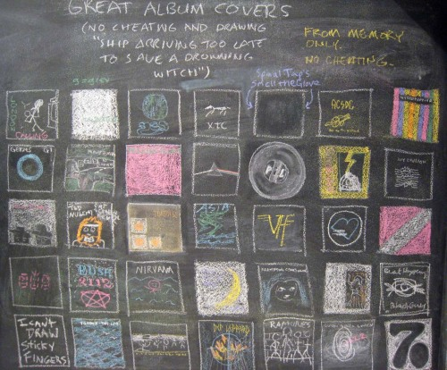 Great (chalk) album covers - (37signals)