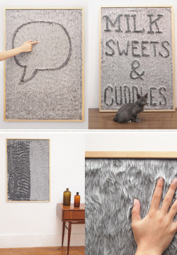 theabstract:  dedo faux-fur message board LOVE this idea.