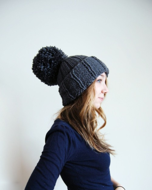 Huge pom-pom beanie :) Love it!