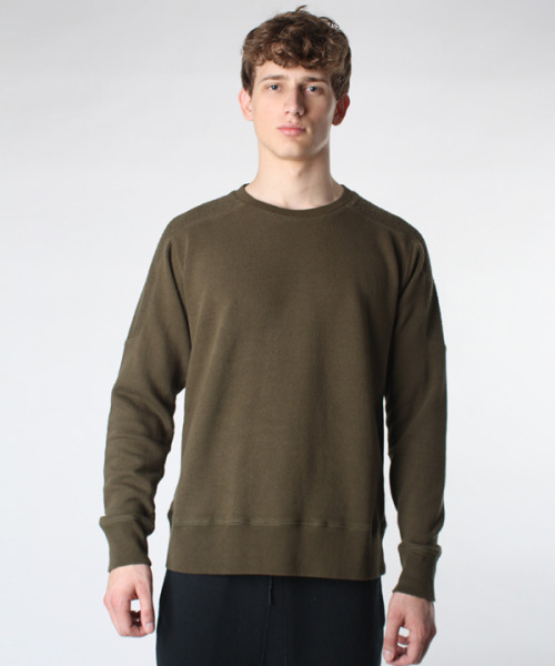 French terry sweatshirt in Moss, T by Alexander Wang, I Don't Like Mondays, $135
