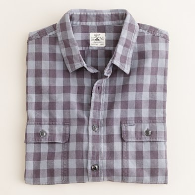Buffalo check vintage flannel shirt in Old Metal, J Crew, $69.50