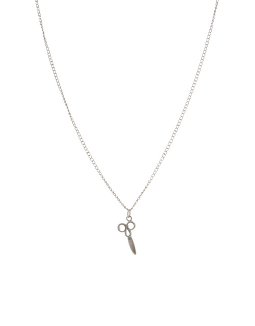 Scissor pendant necklace in Silver, ASOS, $13.48