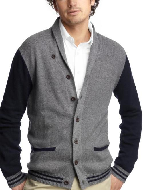 Varsity shawl collar cardigan in Gray, Gap, $69.50