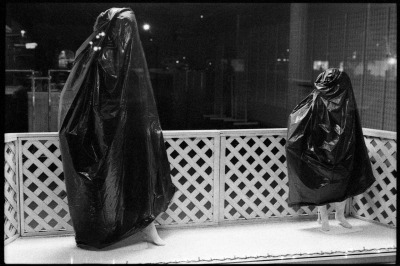 Trash Bag Mannequins 3200 B&W Film Bloomington, IN