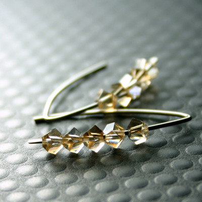 Nixie Swarovski Crystal earring in Pale Honey