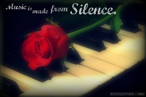 Music is made from silence.