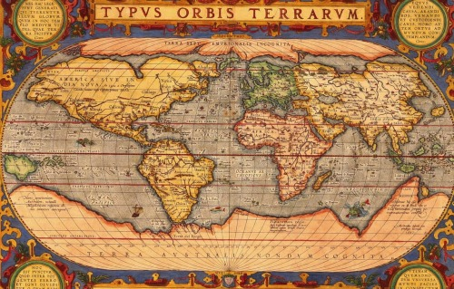 idooodle:  World Map 1601 by Ortelius