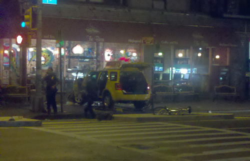 A YM tipster was on the scene at 1st Ave and 3rd St last night. So was James Del. No sign of noted muckraker NYC The.