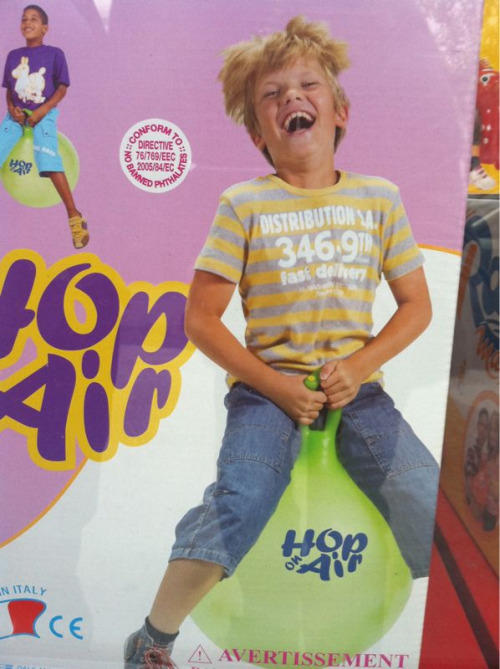 This kid is REALLY liking his new toy.