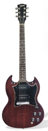 Pete Townshed's 1967 SG special  was auctioned in July 2008 at Christies London for $64,219.  Lot notes from Christies It appears from his letter that Townshend gave this  guitar to Haslam in gratitude for the help he gave him in facing up to  his problem with alcohol addiction in the early 1980s. Tony Haslam is  selling this guitar to cover medical expenses for himself and for  another former Who crew member, Mike Shaw, who was injured in a car  crash whilst working for the band in 1965.