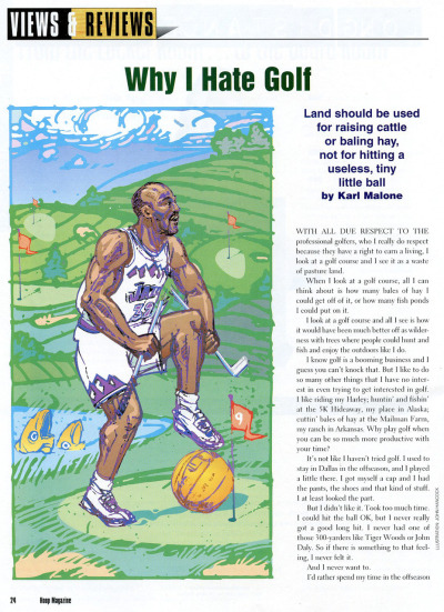 Why Karl Malone hates golf