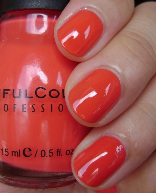 """Thimbleberry"" by Sinful Colors. Wow! I really like this orange.  Via"