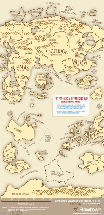 The Social Networking Map Island of Trolls amused me Via paulbradshaw:  The 2010 Social Networking Map