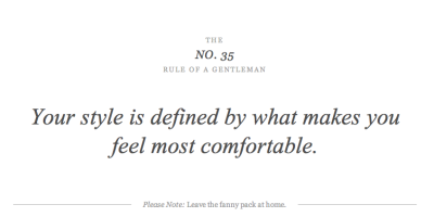 thealwaysgentleman:  Rules of a Gentleman