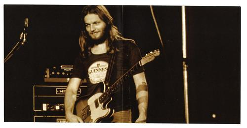 "David Gilmour with his 59 Custom Telecaster.  The Telecaster was at first used on ""Animals"" and had PAF humbucker neck pickup. The PAF was then replaced with a single coil during the 1977 Animals tour.  Thanks to @scarecrowman for the top image"