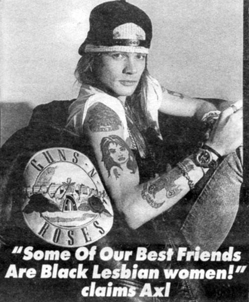 Axl Rose, Melody Maker, 1992.