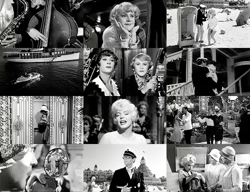 "9) Old Hollywood movies | Some Like It Hot  ""You must be quite a girl.""""Wanna bet?"""