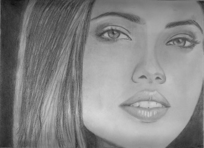 This is a portrait I did of model Adriana Lima. It was for my first art class at Westwood back in '06. I learned a lot from my instructor, Mr. Saeed Danosian. His sense of humor really made my first term at college a lot easier. He was always giving helpful tips and encouraging us. May he rest in peace.