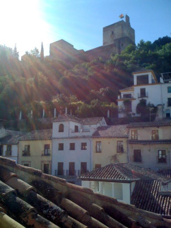 Morning in Granada - Alhambra in the distance