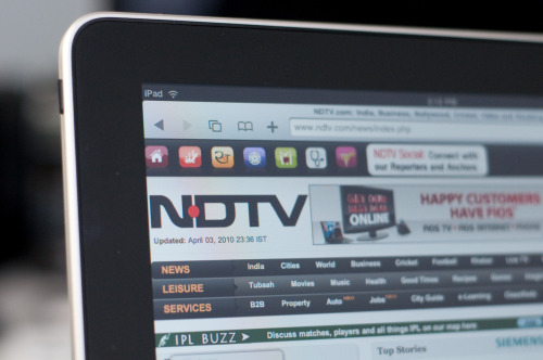 My iPad pictures featured on NDTV.com.