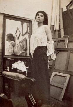chagalov:  Modèle retirant sa blouse dans l'atelier parisien de Bonnard, ca 1916 -by Pierre Bonnard[Model getting ready for pose] via rmn