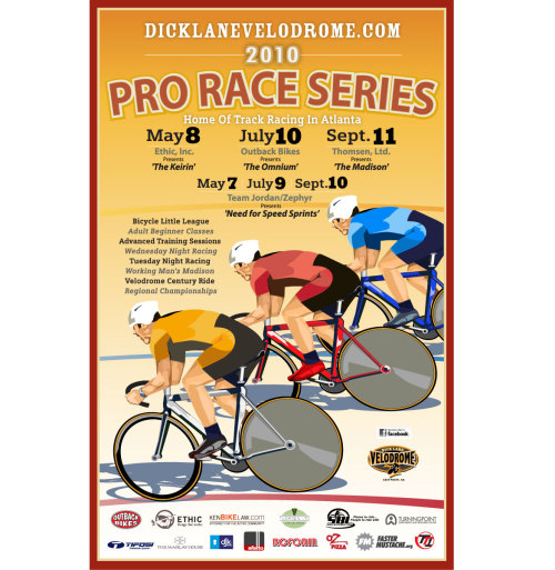 This weekend at Dick Lane Velodrome!  Races on Friday night and Saturday.  Check the schedule of events here.  DLV will also be auctioning off a Zipp 404 road wheelset.  Online bids can be placed here.  Bidding will continue until the 11th and the winner will be announced at the race.  P.S. Check out Dick Lane Velodrome featured on Fox 5's Good Day Atlanta!
