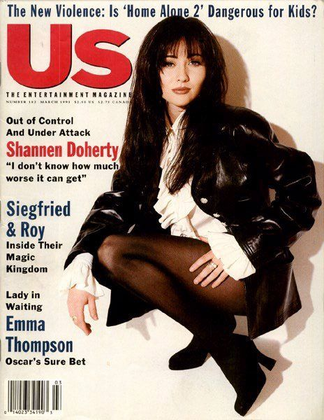 Shannen Doherty was the Lindsay Lohan of the 90's. Just a badass out-of-control party animal. (US Weekly, circa 1993)