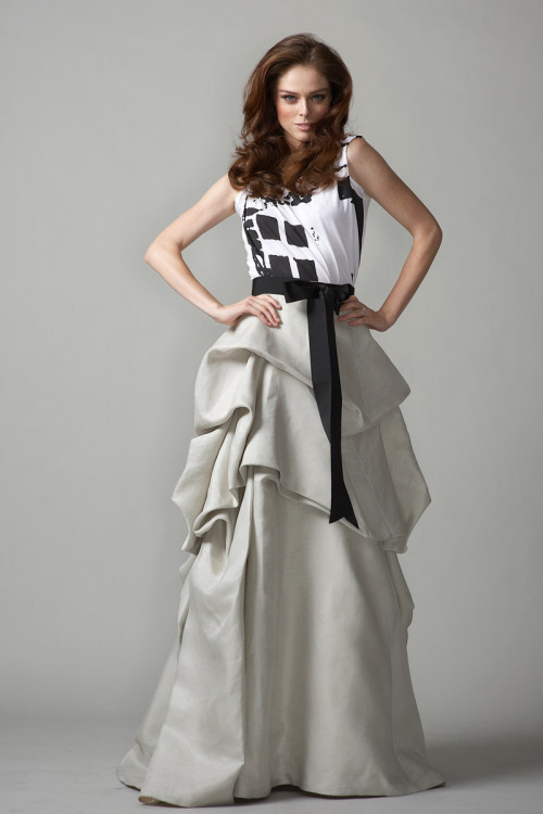 Coco Rocha. Wearing an Oscar Dela Renta Skirt. During Fashion's Night Out: The Show 2010