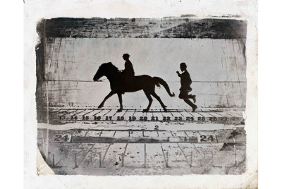 "Eadweard Muybridge, Leland Stanford, Jr. on his Pony ""Gypsy""—Phases of a Stride by a Pony While Cantering  1879via"