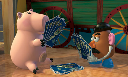 Hamm the Piggy Bank x Mrs. Potato Head (Toy Story)