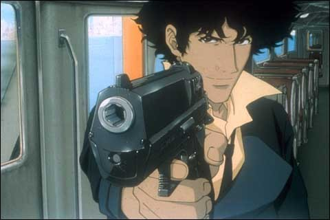 Watching Cowboy Bebop tonight (watched like 4 episodes and now I'm on to the movie)Damn it Spiegle, you still have my heart *le sigh*