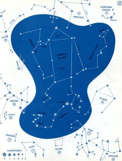From The Stars: A New Way To See Them by H.A.Rey (1952). More from this beautiful book at Stopping Off Place.