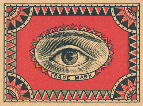 freakyfauna:  Swedish matchbox label.