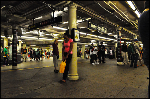 NYC subway. [Photo by me.]