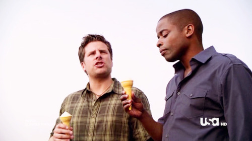 """My spirit has to remain unchained, Gus… like my melodies."" ""Wow.""  Psych - 5.09 ""One, Maybe Two, Ways Out"""